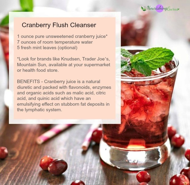 cranberry flush cleanser