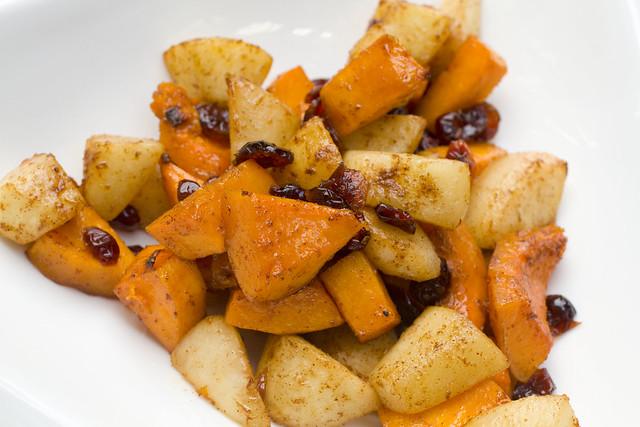 Roasted Butternut Squash with Nuts & Berries