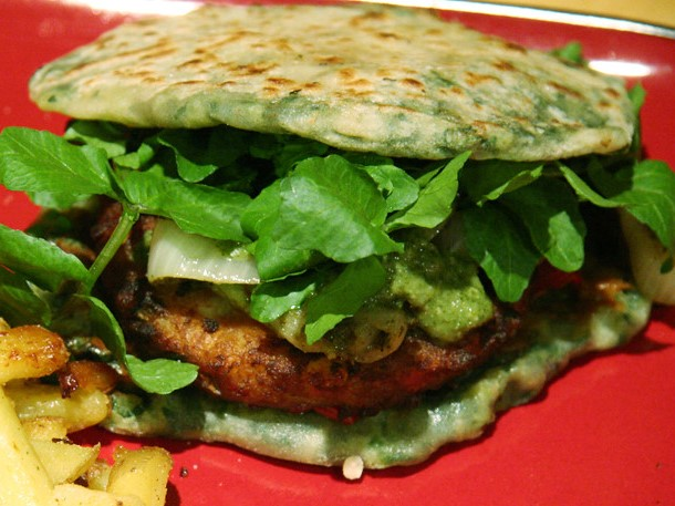 Lime Cilantro Burgers