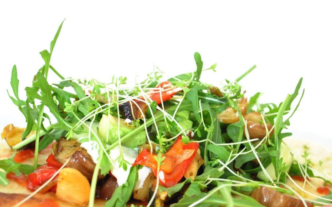 Roasted Eggplant Salad with Feta & Mint